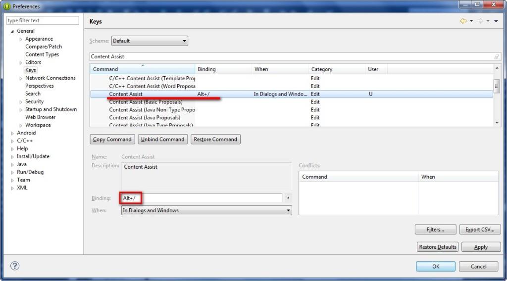 XML Content Assist