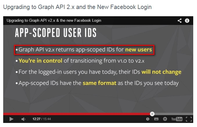 Facebook Graph API v2.x app-scoped user ids
